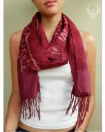 Bold Tradition Red Silk Scarf
