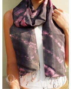 Purple Ash Silk Scarf
