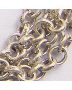 Karen Silver Printed Link Chain