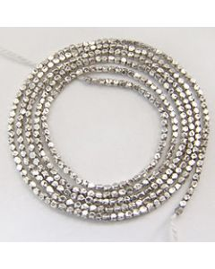 Hammered Faceted Beads Strand