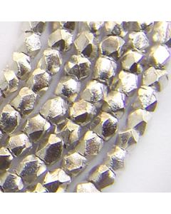 Fine Karen Silver Minimal Faceted Cut Beads Strand