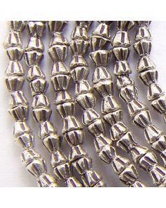 Fine Karen Silver Mini Hourglass Shaped Beads Strand