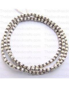 Plain Pleated Beads Strand
