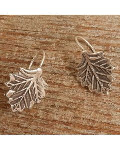 Hill Tribe Silver Printed Leaf Earrings