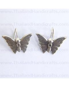 Fine Karen Silver Butterfly Earrings