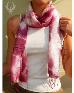 Pink Fairytale Illusion Silk Scarf