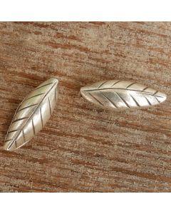 Hill Tribe Silver Tapioca Leaf Bead