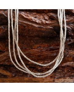 Fine Hill tribe Silver Oval Beads Strand