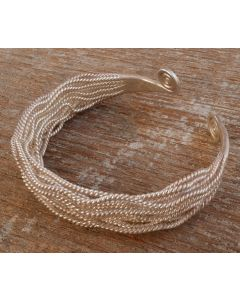Fanchon Bangle, Fine Karen Silver