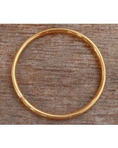 Eve Bangle, 24-Karats Gold Plated Fine Karen Silver
