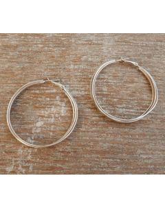Maya Earrings, Fine Karen Silver