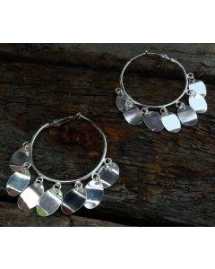Kierra Earrings, Fine Sterling Silver