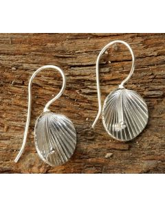 Lilly Calla Earrings, Fine Hill Tribe Silver
