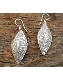 Asha Earrings, Fine Hill tribe Silver
