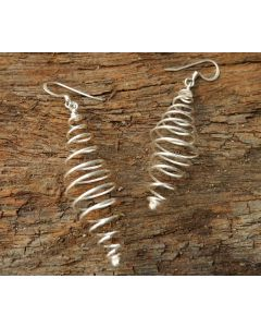 Uhuru Earrings, Fine Sterling Silver