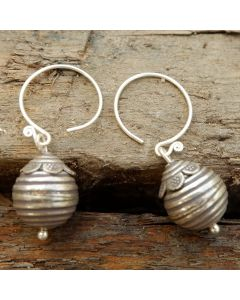 Kamali Earrings, Fine Karen Silver