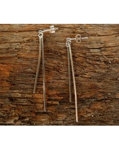 Vera Earrings, Fine Sterling Silver