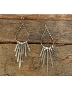 Arshi Earrings, Fine Sterling Silver