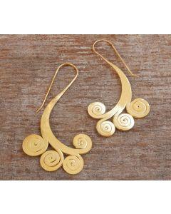 Suri Earrings, 24-Karats Gold Plated Fine Karen Silver