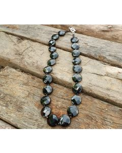 Lilith Necklace, Authentic Onyx Stones, Tiger Eyes, Fine Silver