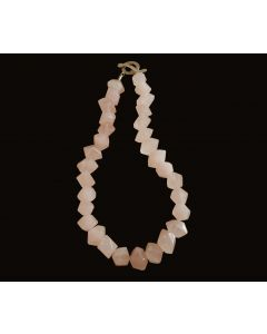 Roxanne Necklace, Authentic Rose Quartz, Fine Karen Silver (98%) Toggle