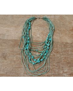 Terra Necklace, Authentic Afghanistan Turquoise, Karen Silver