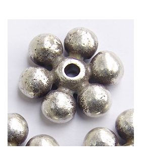 Hill Tribe Silver Dahlia Flower Beads