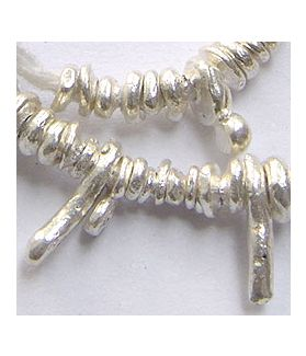 Hill Tribe Silver Free Form Beads
