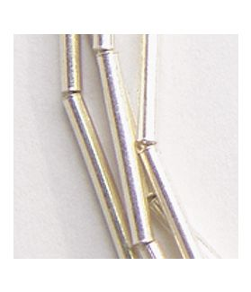 Hill Tribe Silver Cylinder Tube Beads Strand