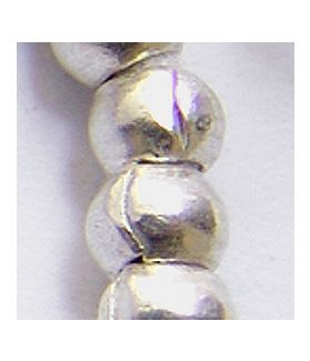 Hill Tribe Silver PLain Round Beads Strand