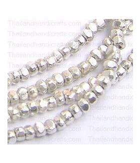 Tiny Plain & Faceted Cut Beads Strand