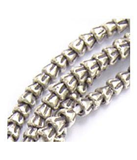 Fine Karen Silver Mini Cone Beads Strand