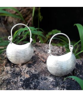 Handmade Fine Silver Sand Drop Earrings