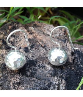 Karen Silver Rock Inspired Earrings