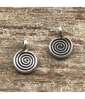 Fine Karen Silver Tribal Swirl Charm