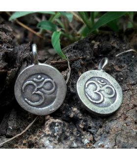 Fine Hill Tribe Silver Om Engraved Charm