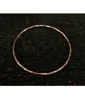 Hardened Rose Bangle, Pink Gold Plated Silver