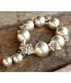 Fleur Bracelet, Fine Hill Tribe Silver