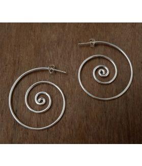Chesa Earrings, Karen Silver