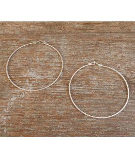 Gemini Earrings, Fine Karen Silver
