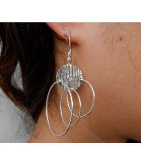 Fern Earrings, Fine Karen Silver
