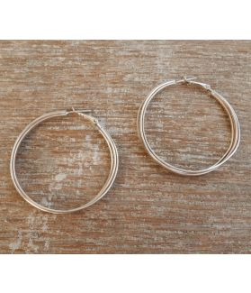 Maya Earrings, Fine Karen Silver