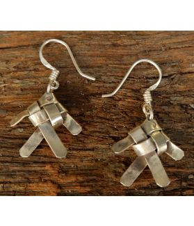 Nami Earrings, Fine Karen Silver