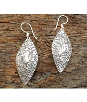Asha Earrings, Fine Hill tribe Silver