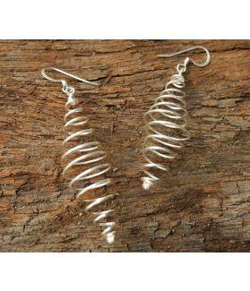 Uhuru Earrings, Fine Sterling Silver