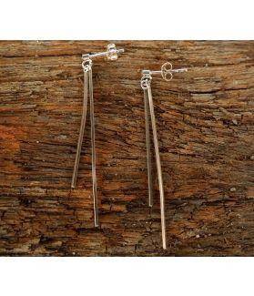 Vera Earrings, Fine Sterling Silver