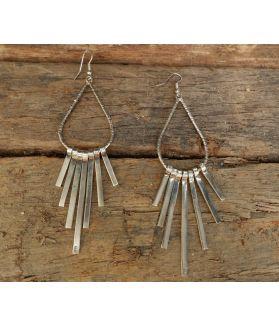 Arshi Earrings, Fine Sterling Silver