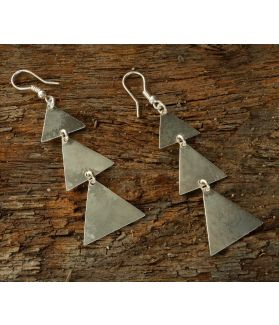 Kimaya Earrings, Fine Sterling Silver