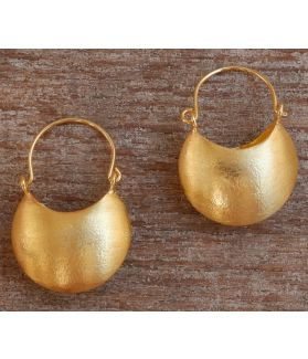 Mina Earrings, 24-Karats Gold Plated Fine Karen Silver