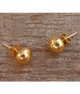 Flavia Earrings, 24-Karats Gold Plated Fine Karen Silver